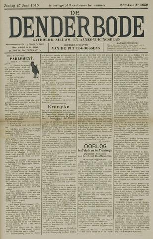 De Denderbode 1915-06-27