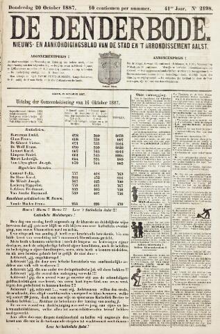 De Denderbode 1887-10-20