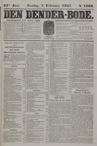 De Denderbode 1867-02-03