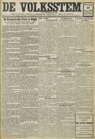 De Volksstem 1930-08-27