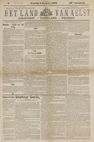 Het Land van Aelst 1888-01-08