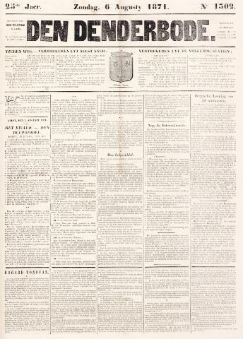 De Denderbode 1871-08-06