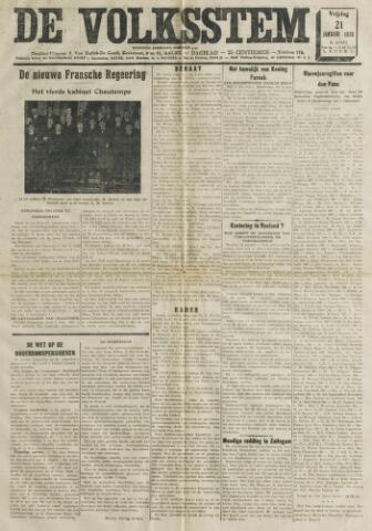 De Volksstem 1938-01-21