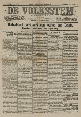 De Volksstem 1914-08-05