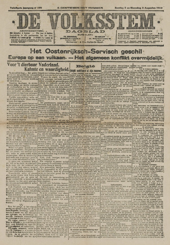 De Volksstem 1914-08-03