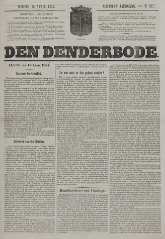 De Denderbode 1854-04-16