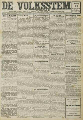 De Volksstem 1930-08-12