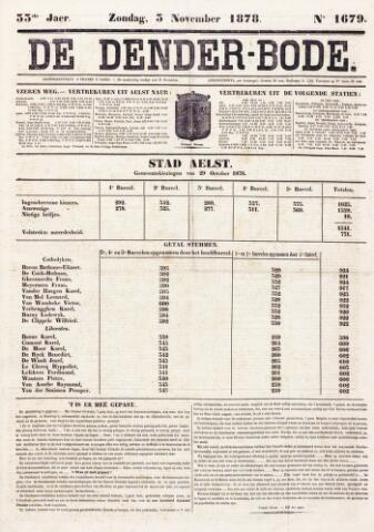 De Denderbode 1878-11-03