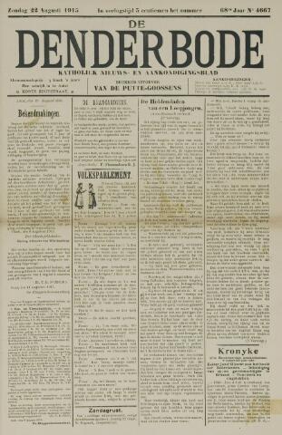 De Denderbode 1915-08-22