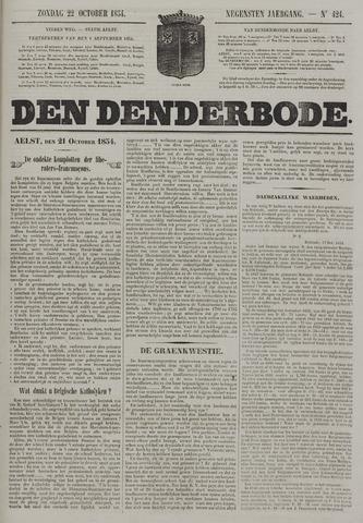 De Denderbode 1854-10-22