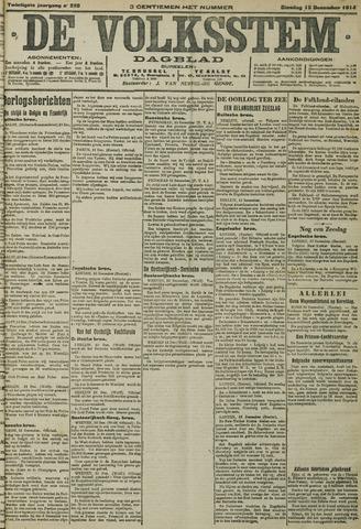 De Volksstem 1914-12-15