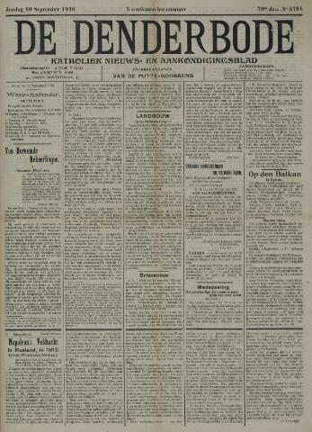 De Denderbode 1916-09-10