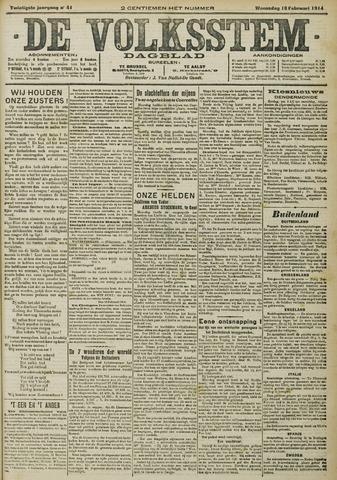 De Volksstem 1914-02-18
