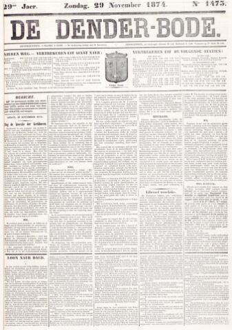 De Denderbode 1874-11-29