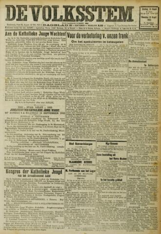 De Volksstem 1923-08-12
