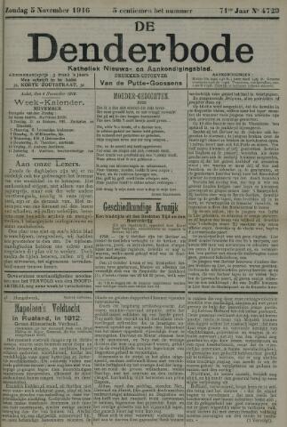 De Denderbode 1916-11-05