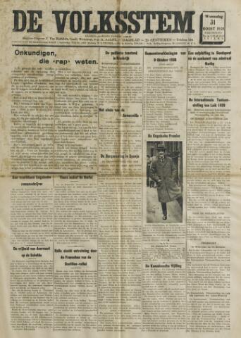 De Volksstem 1938-08-31