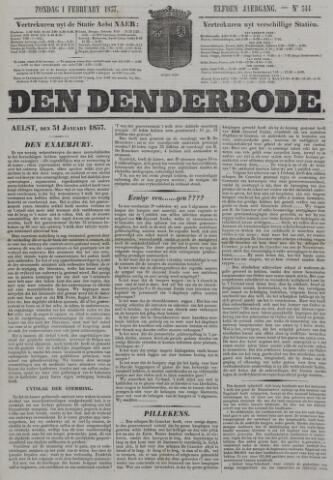 De Denderbode 1857-02-01