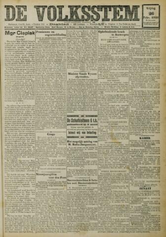 De Volksstem 1926-02-26