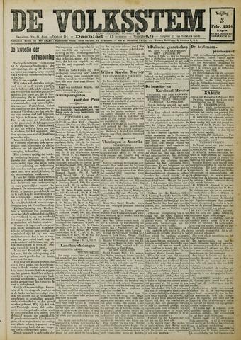 De Volksstem 1926-02-05