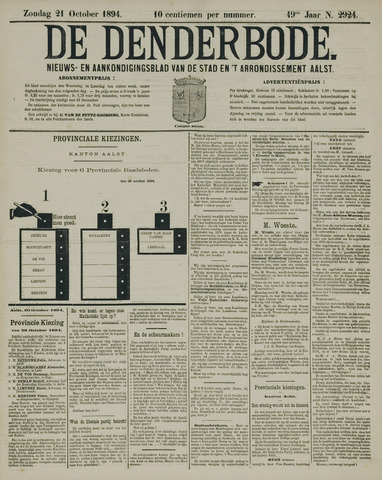 De Denderbode 1894-10-21