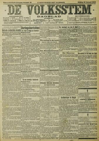 De Volksstem 1915-01-22