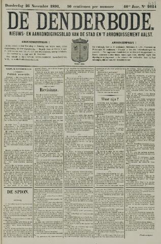 De Denderbode 1891-11-26