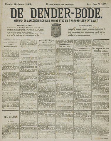 De Denderbode 1890-01-26