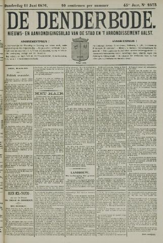 De Denderbode 1891-06-11