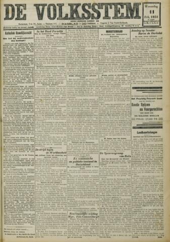 De Volksstem 1931-02-11