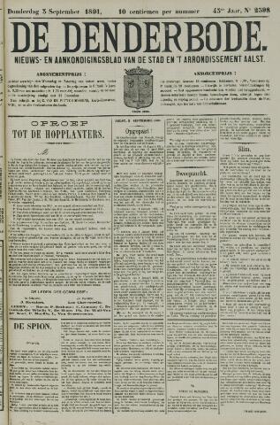 De Denderbode 1891-09-03