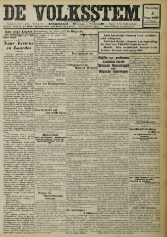 De Volksstem 1926-08-04