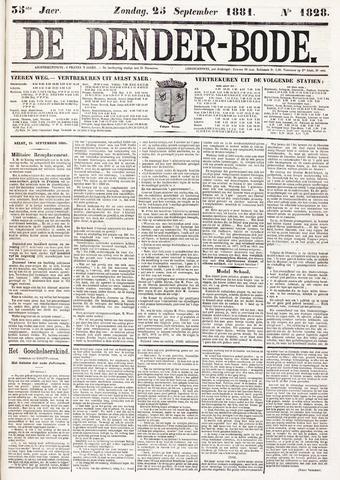 De Denderbode 1881-09-25