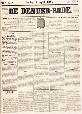 De Denderbode 1872-04-07