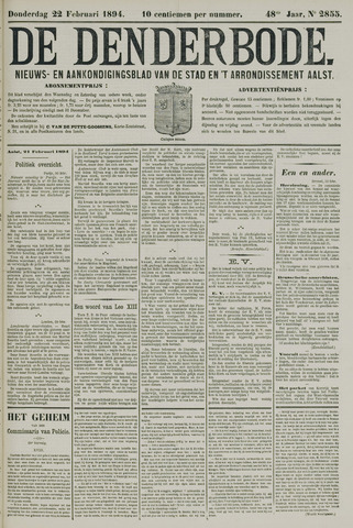 De Denderbode 1894-02-22