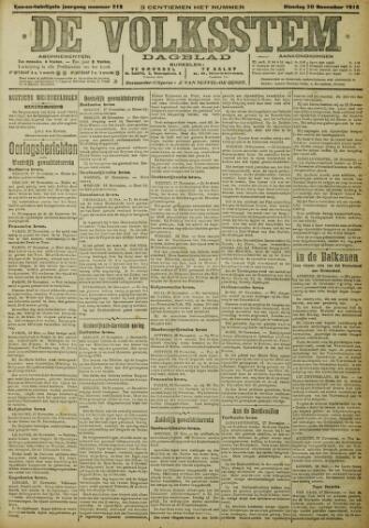 De Volksstem 1915-11-30