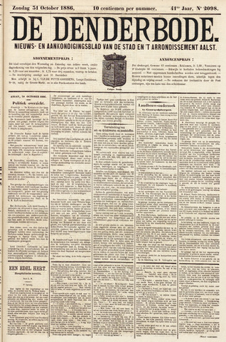 De Denderbode 1886-10-31