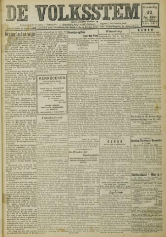 De Volksstem 1931-01-22