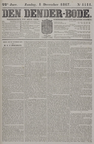 De Denderbode 1867-12-01