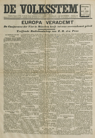 De Volksstem 1938-10-01