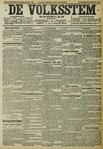 De Volksstem 1915-02-25