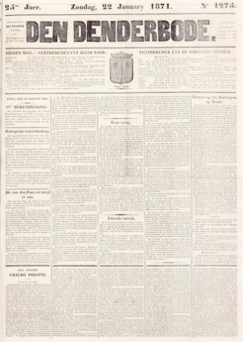 De Denderbode 1871-01-22