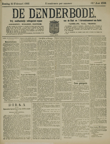 De Denderbode 1911-02-12