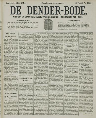 De Denderbode 1891-05-31