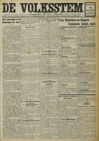 De Volksstem 1926-09-09