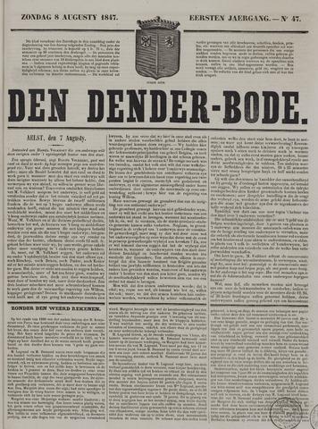De Denderbode 1847-08-08