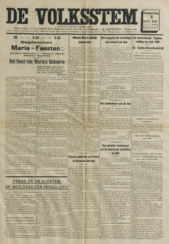 De Volksstem 1938-09-08