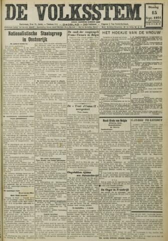 De Volksstem 1931-09-15