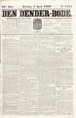 De Denderbode 1869-04-04