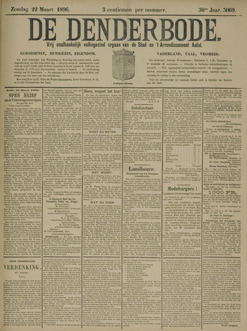 De Denderbode 1896-03-22